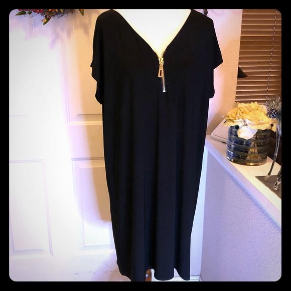 MSK Plus Size Zippered Tunic Dress